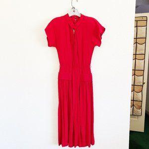 Joseph Magnin Vintage Red Dress